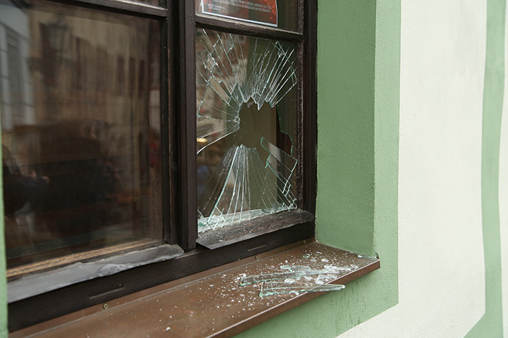A2B Glass are able to board up broken windows while they are being repaired in Spitalfields.